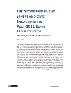 The Networked Public Sphere and Civic Engagement: The Case of Egypt Post-2011