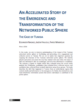 An Accelerated Story of the Emergence and Transformation of the Networked Public Sphere: The Case of Tunisia