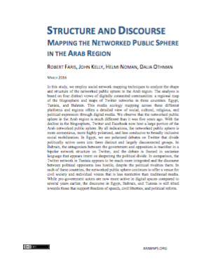 Structure and Discourse: Mapping the Networked Public Sphere in the Arab Region